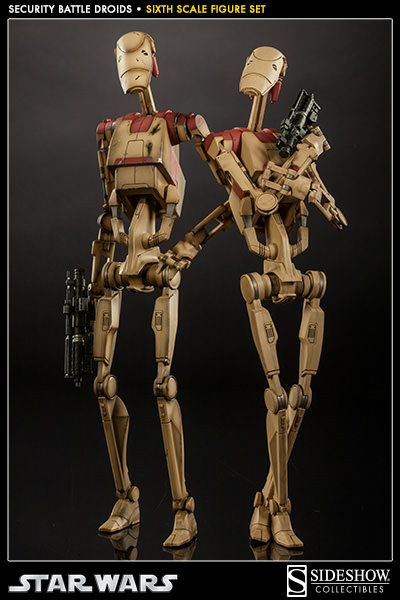 Sideshow - Security Battle Droids - Sixth Scale Figure Set Secbat10