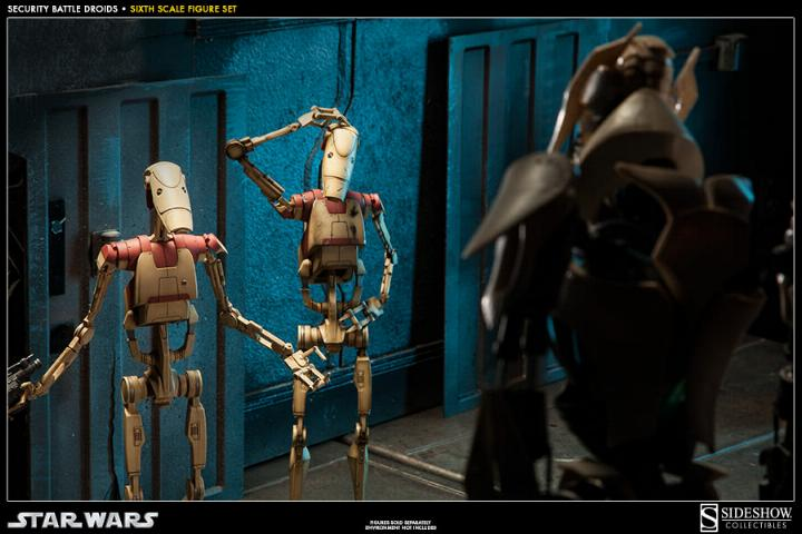 Sideshow - Security Battle Droids - Sixth Scale Figure Set Secbat11