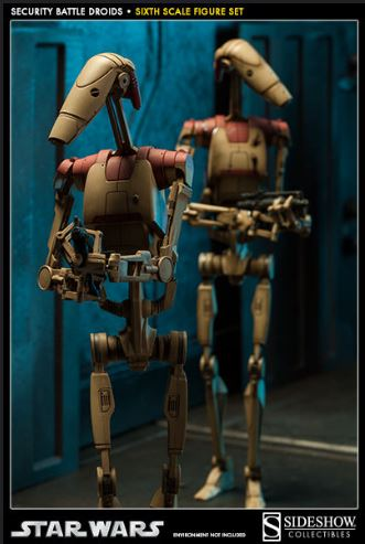 Sideshow - Security Battle Droids - Sixth Scale Figure Set Secbat12