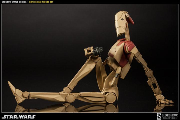Sideshow - Security Battle Droids - Sixth Scale Figure Set Secbat14