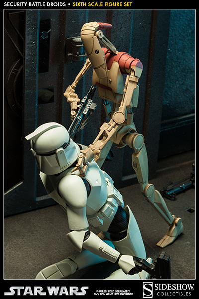 Sideshow - Security Battle Droids - Sixth Scale Figure Set Secbat15