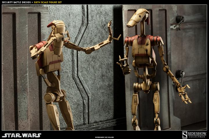 Sideshow - Security Battle Droids - Sixth Scale Figure Set Secbat16