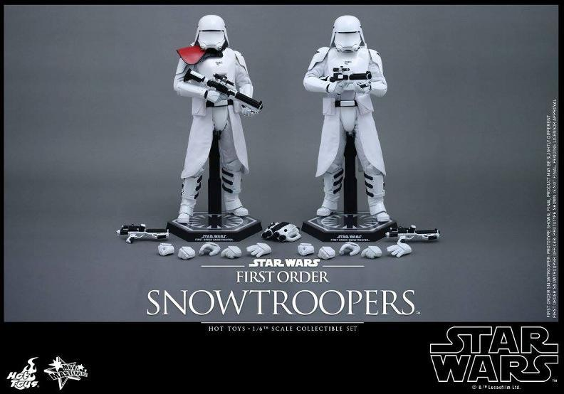 Hot Toys Star Wars TFA 1/6 Scale First Order Snowtrooper Set Snow_f23