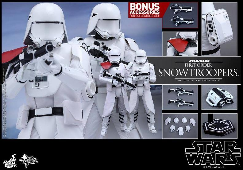 Hot Toys Star Wars TFA 1/6 Scale First Order Snowtrooper Set Snow_f24