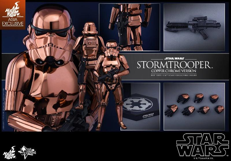 Hot Toys Star Wars 1/6th Stormtrooper Copper Chrome Version Stormc19