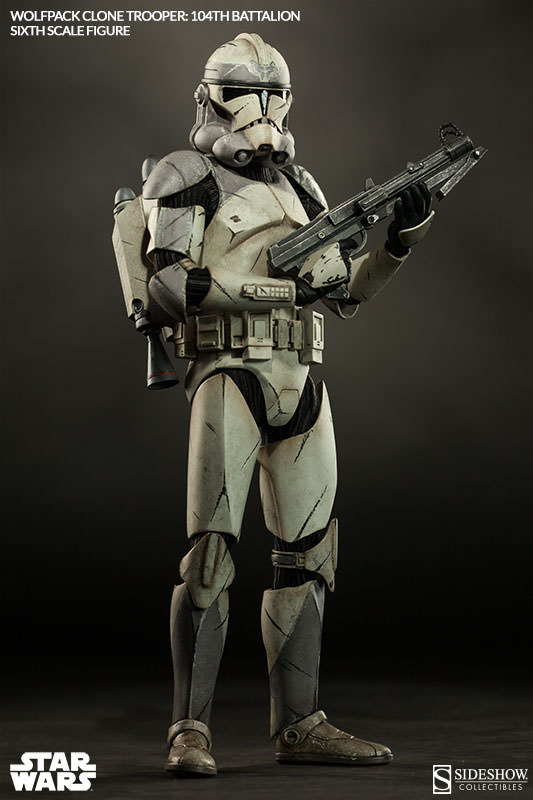 Sideshow - Wolfpack Clone Trooper 104th Battalion Figure  Wolffe10