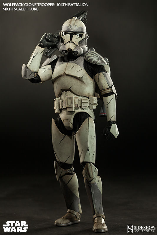 Sideshow - Wolfpack Clone Trooper 104th Battalion Figure  Wolffe15