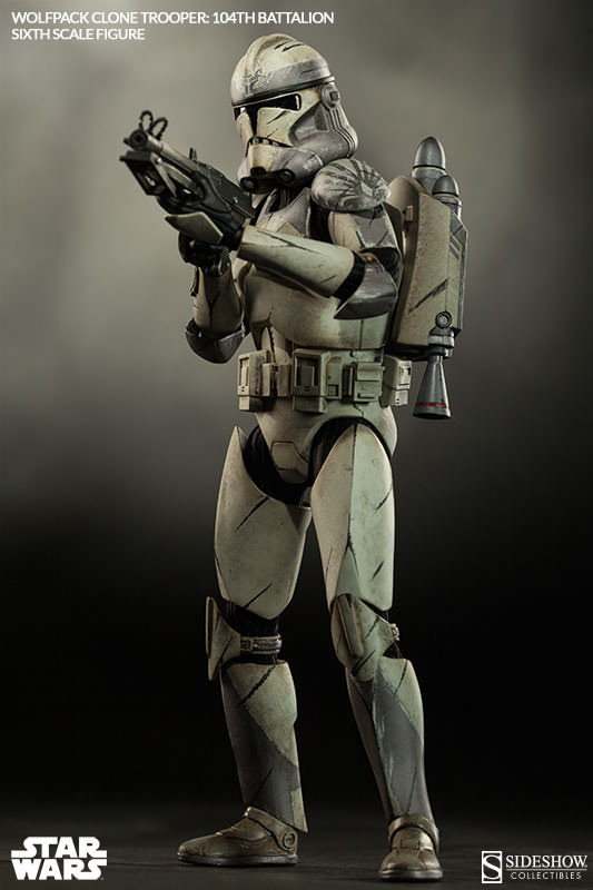 Sideshow - Wolfpack Clone Trooper 104th Battalion Figure  Wolffe17