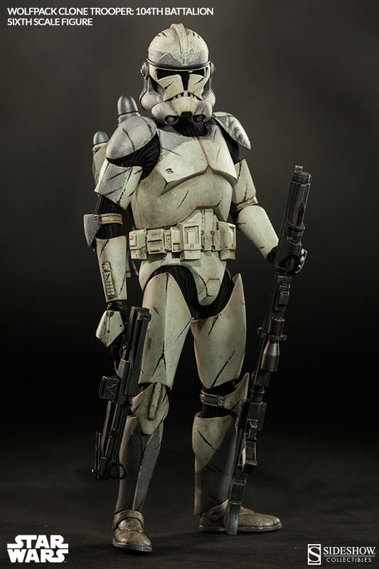 Sideshow - Wolfpack Clone Trooper 104th Battalion Figure  Wolffe18