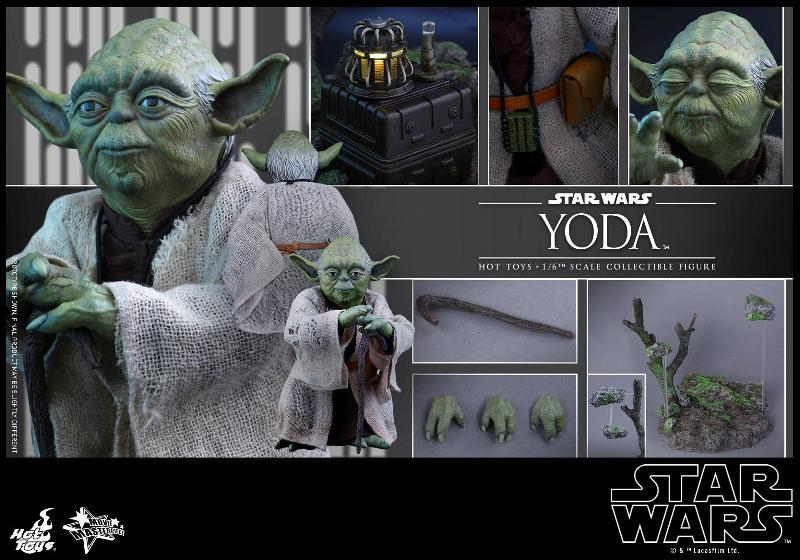 Hot Toys Star Wars V - 1/6th scale Yoda Collectible Figure Yoda1310