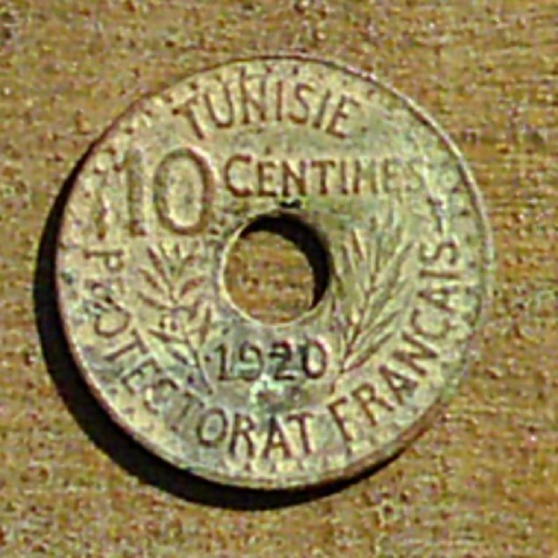 Monnaie Tunisienne, 10 centimes pour Mohammed Nasr 0210