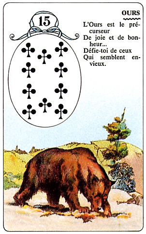 Ce que représente l'Ours dans l'oracle de Mlle Lenormand Ours10