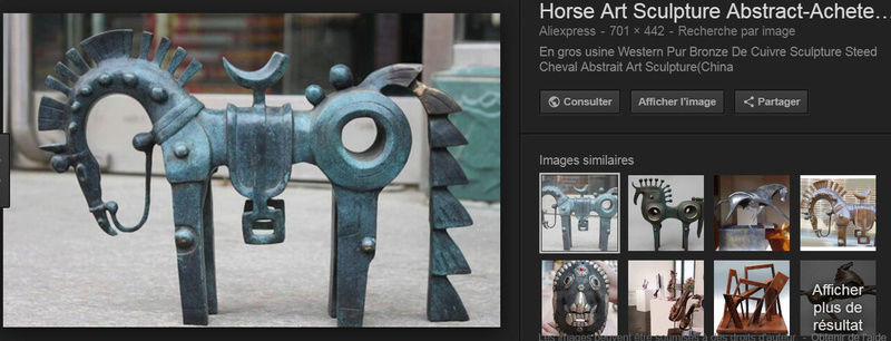 Grande Statue comtemporaine cheval de Troie  Horse10