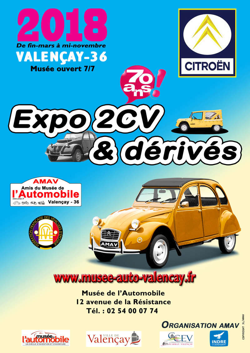2018 EXPO 2CV ET DERIVES AU MUSEE DE L AUTOMOBILE DE VALENCAY(36) Expo_210