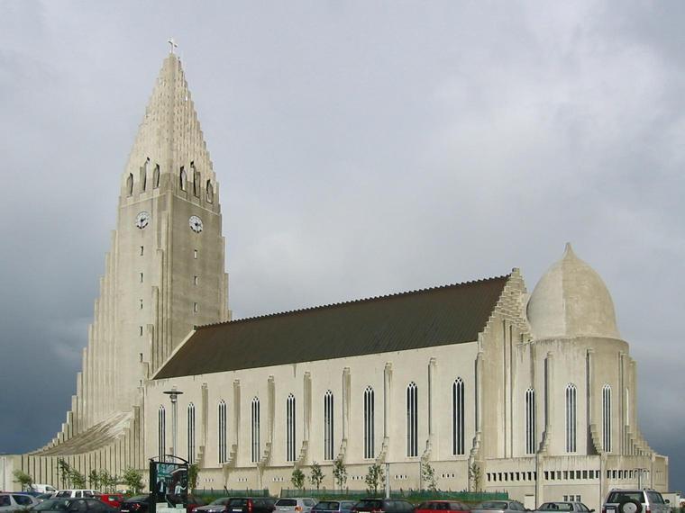 Hallgrímskirkja, église à Reykjavík, Islande Hallgr10
