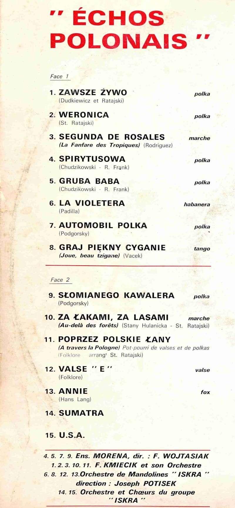 A LA RECHERCHE DE  CHANSON ET MUSIQUE ISSUE DE POLONIA - Page 2 Echo110