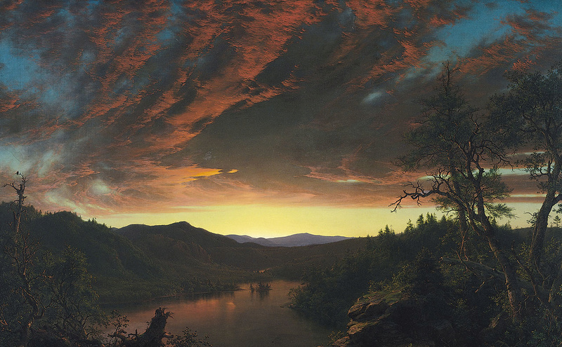 Frederic Edwin Church (1826-1900) Twilig10