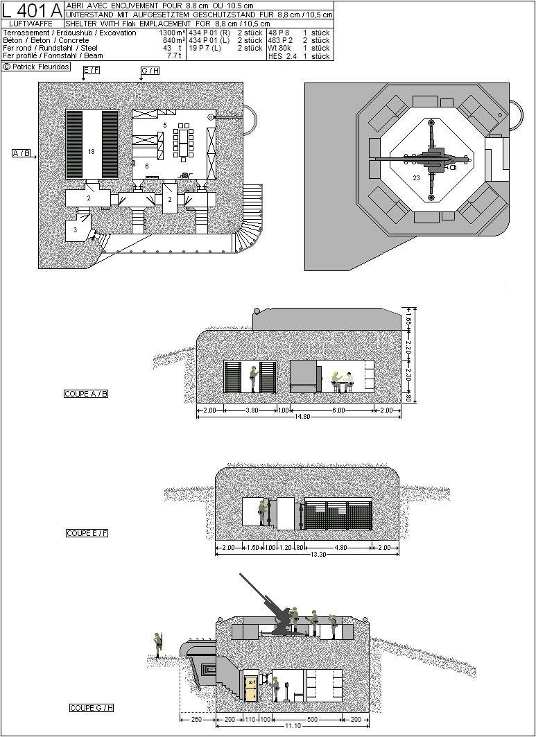 plans de bunker sur le mur de l'Atlantique L_401_10