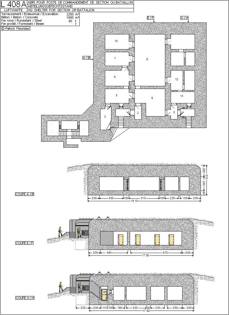 plans de bunker sur le mur de l'Atlantique L_408_10