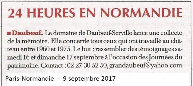 Daubeuf-Serville - Collecte de la mémoire du Château 2017-025