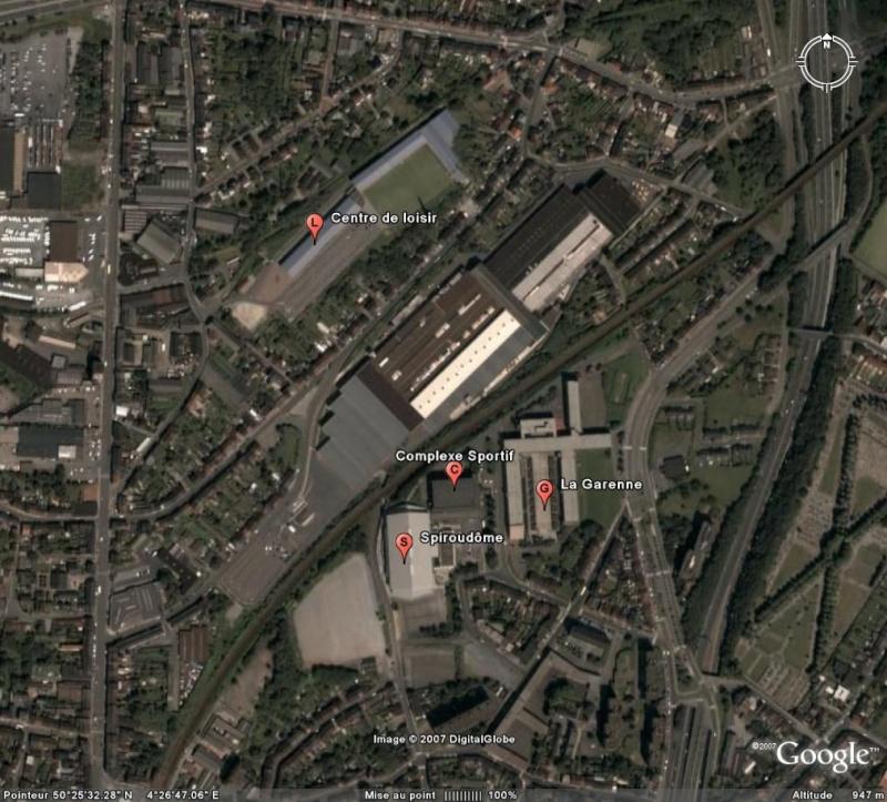 """Stade """"couvert"""", Charleroi - Belgique Spirou10"""