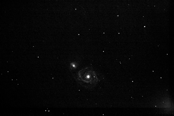 M51 - Whirlpool Galaxy - 7 avril 2007 Test310