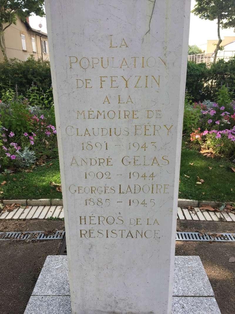 Plaque et monument de FEYZIN - Rhône Img_5212