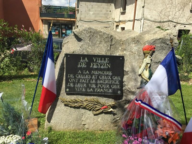 Plaque et monument de FEYZIN - Rhône Img_5214