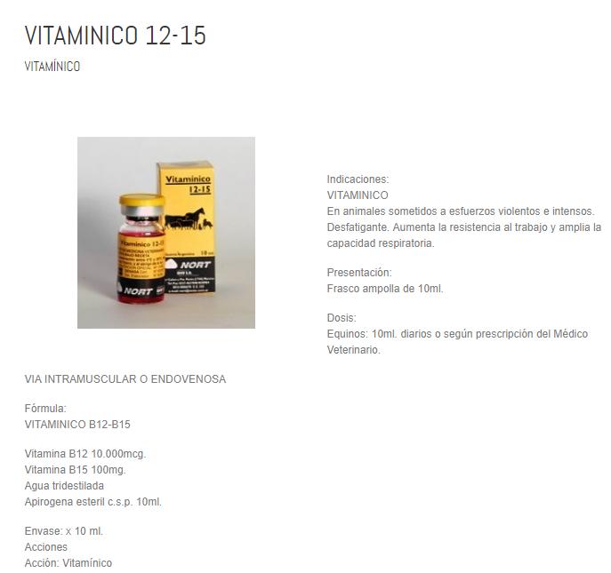 VITAMINICO B12 - B15 10 ML $ 12.000.- Sin_ty10