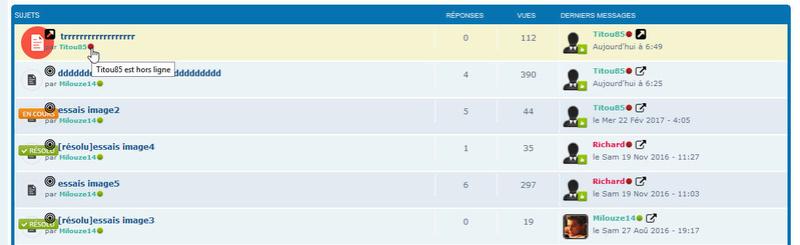 [PHPBB3] Afficher les membres en ligne (version graphique) sur l'index et dans la liste des sujets 222