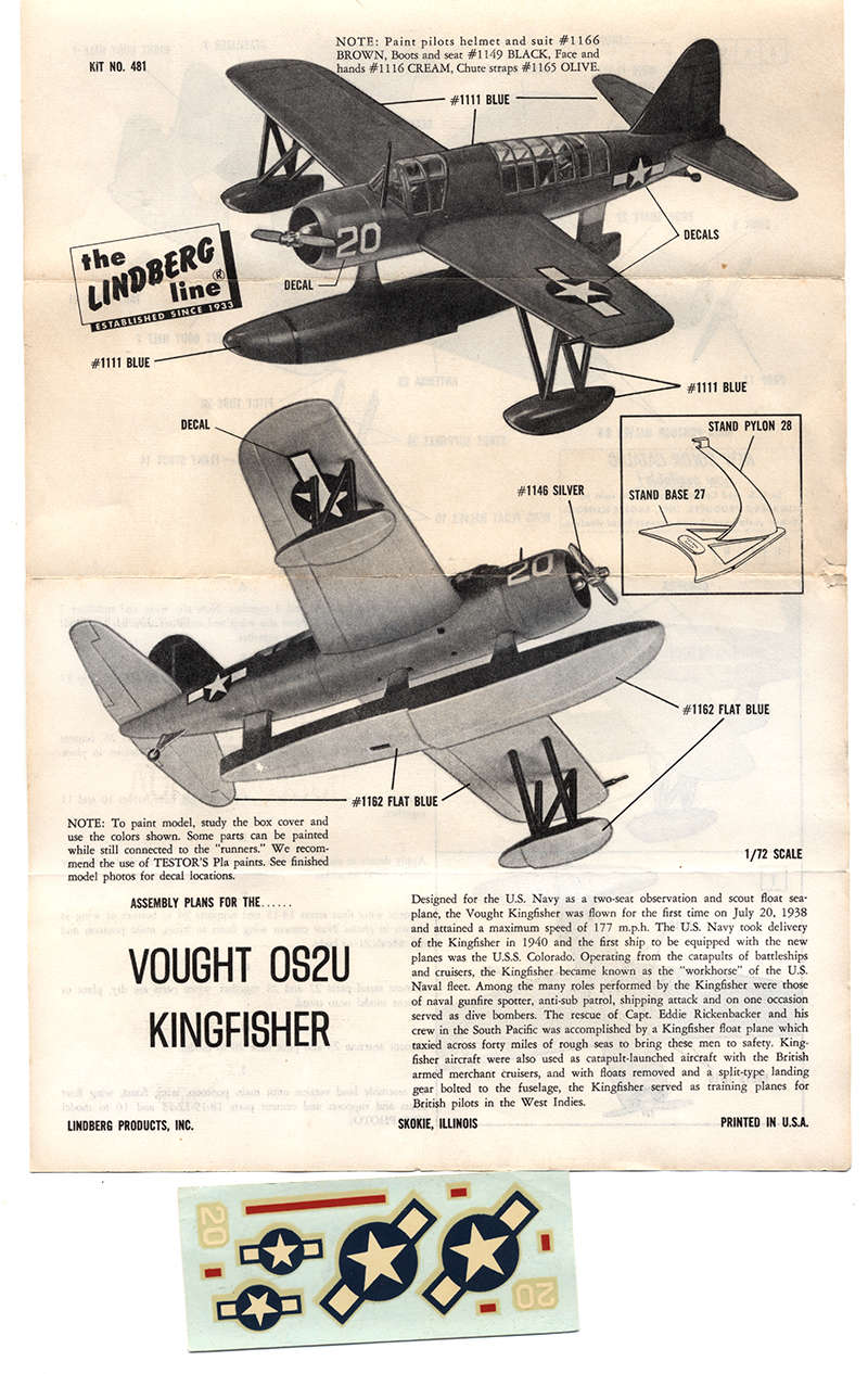 "Vought OS2U ""Kingfisher"" (1:72 Lindberg) Vought13"
