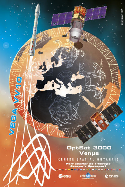 Vega VV10 (Venµs + OptSat 3000) - 2.8.2017 Missio14