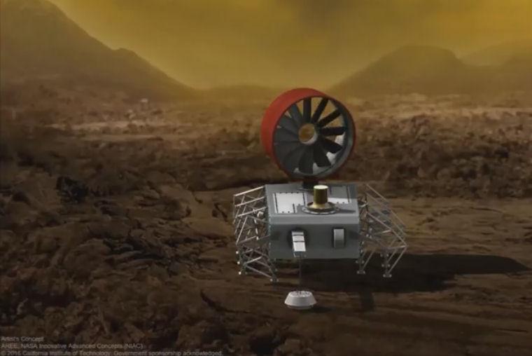 Un rover totalement mécanique sur Vénus ? Projet10