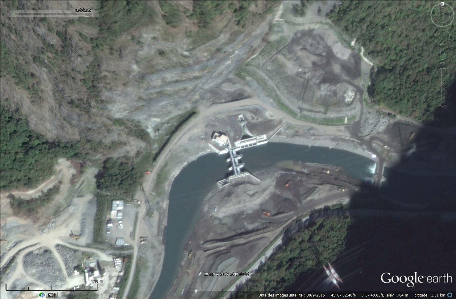 [Désormais visible sur Google Earth] - Le barrage hydroélectrique de Gavet sur la Romanche - Isère Tsge_195