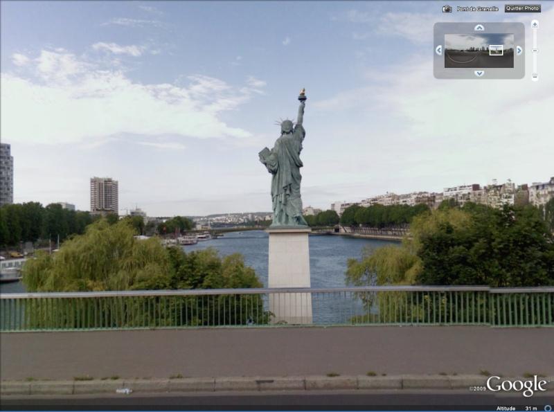 Statue de la Liberté = les répliques découvertes grâce à Google Earth Slpari10