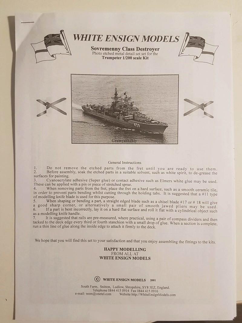 Destroyer de classe Sovremenny Trumpeter 1/200 + Tourelle résine et PE...  20187210