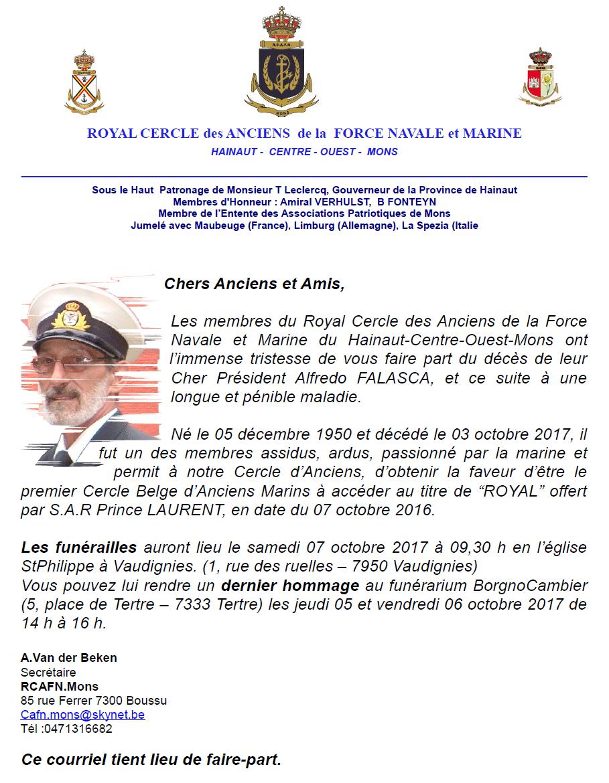 Décès de Alfredo Falasca (Président RCAFN.Mons) M010