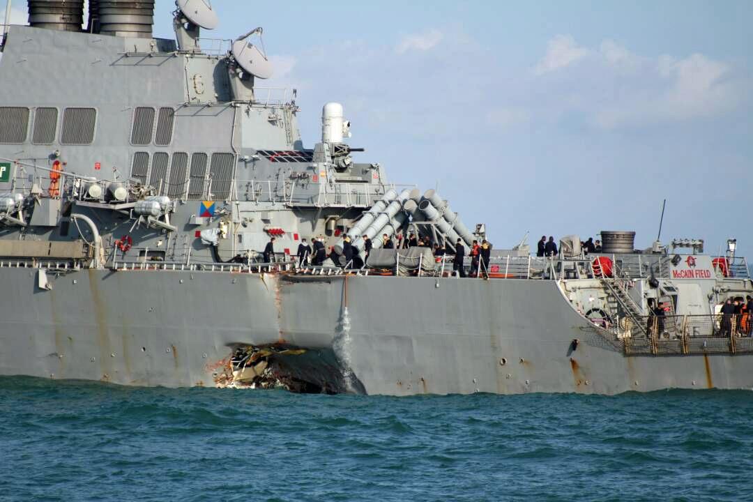 Nouvelle collision d'un destroyer américain !!! Voolli10