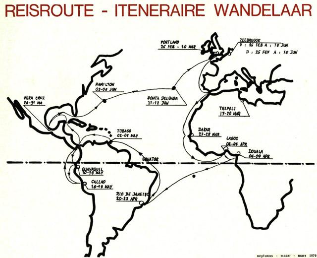 BNS WANDELAAR - Croisière d'endurance - 1979 Voyage11