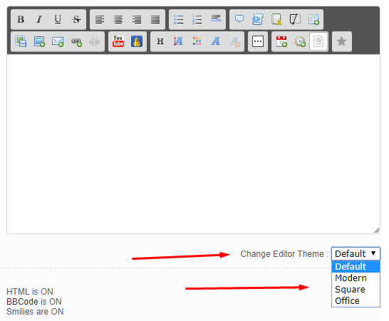 Change the editor theme Scree205