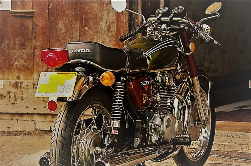 Mes autres !!! (Honda CB350, Harley 883) Cb10