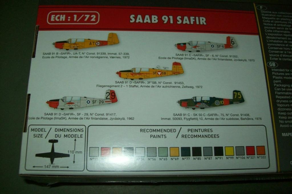 SAAB 91 C SAFIR SF-6 Ecole de pilotage de l'armée de l'air finlandaise 1970 Réf 80287  Boite_14