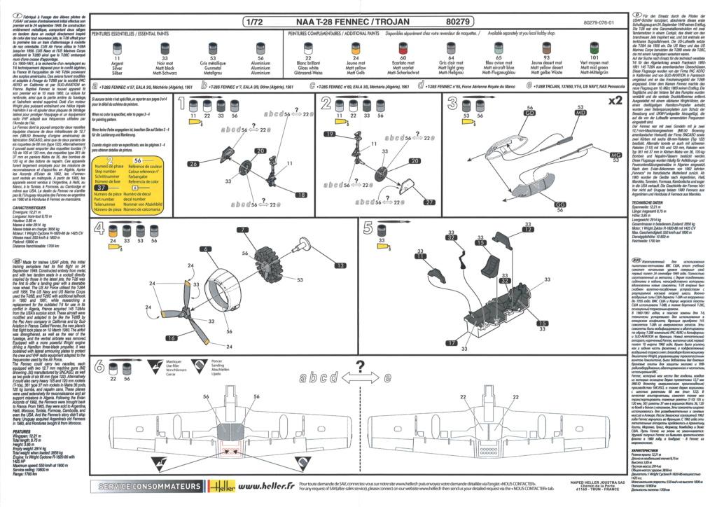 North American T28 Fennec / Trojan (Ref 80279 - 1/72e) Notice15