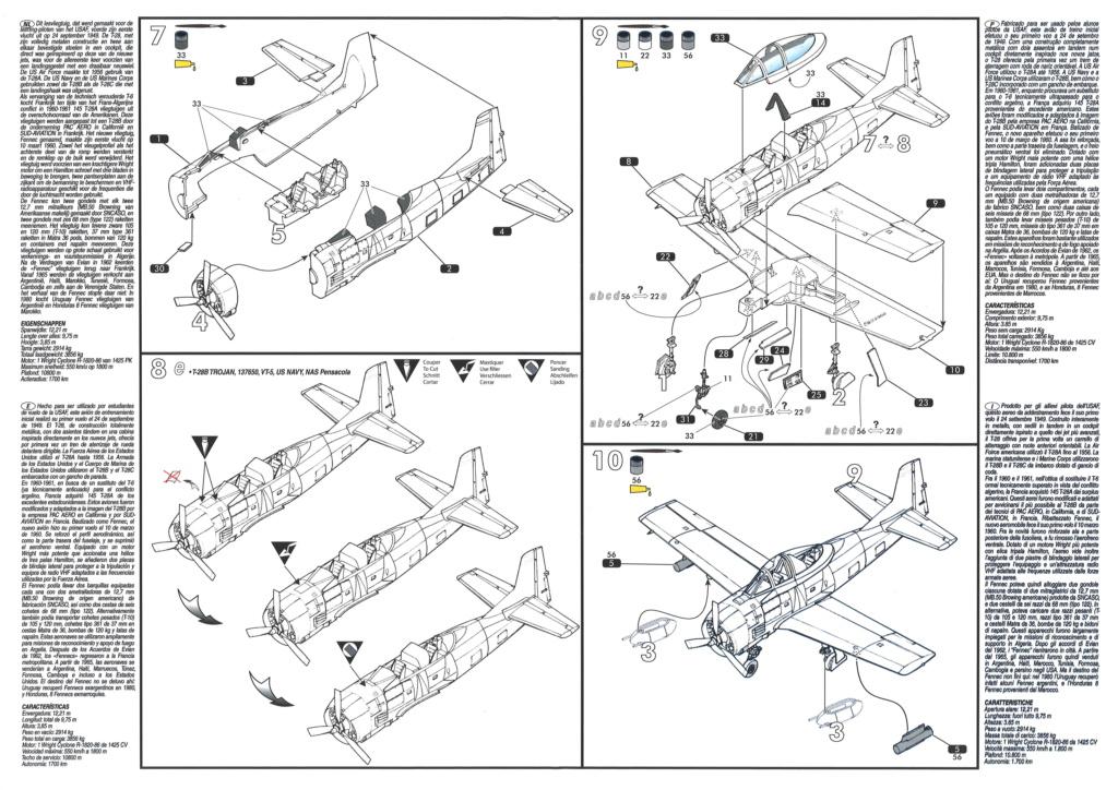 North American T28 Fennec / Trojan (Ref 80279 - 1/72e) Notice16