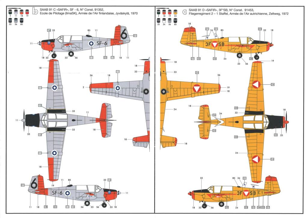 SAAB 91 C SAFIR SF-6 Ecole de pilotage de l'armée de l'air finlandaise 1970 Réf 80287  Notice20