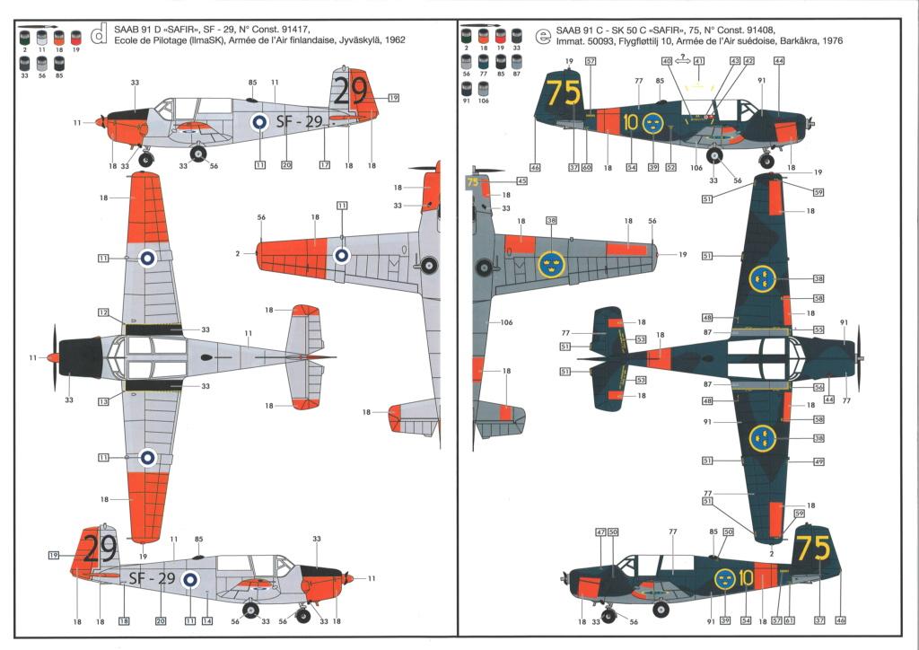 SAAB 91 C SAFIR SF-6 Ecole de pilotage de l'armée de l'air finlandaise 1970 Réf 80287  Notice23