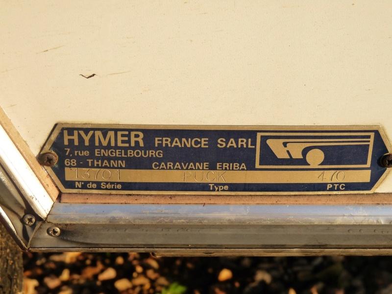 Plaque constructeur Eriba / Hymer [Post Photos] - Page 15 Unadju22