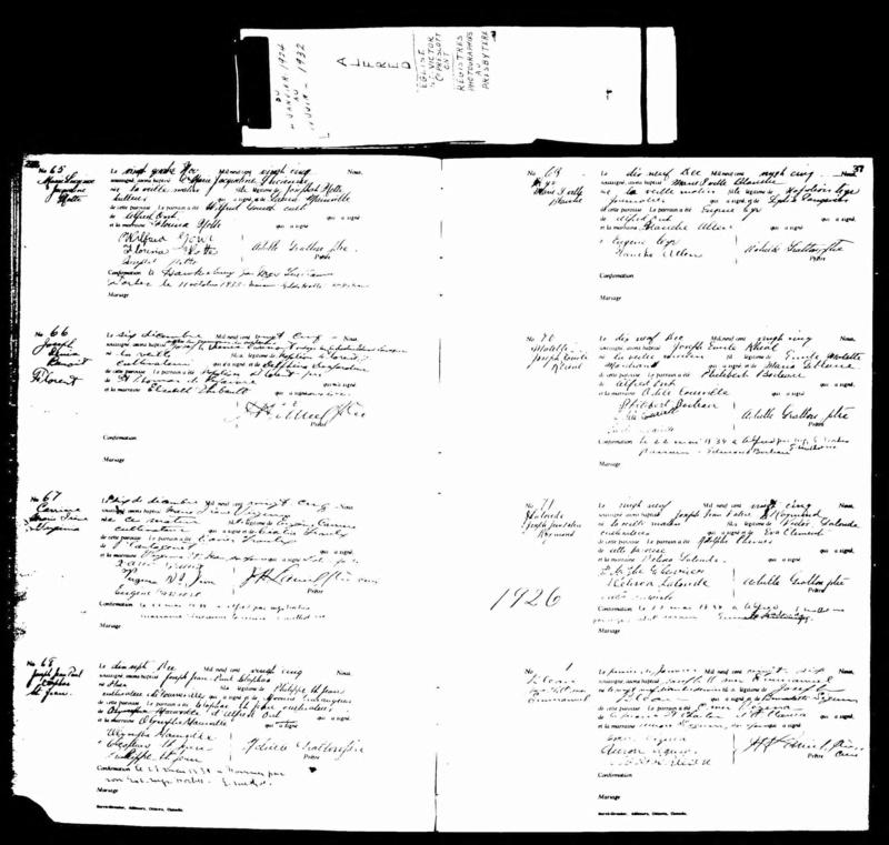 Date du mariage d'Ovide Dubois et Marguerite Bleau Emmanu10