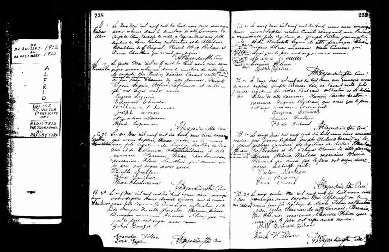 Date du mariage d'Ovide Dubois et Marguerite Bleau Margue10