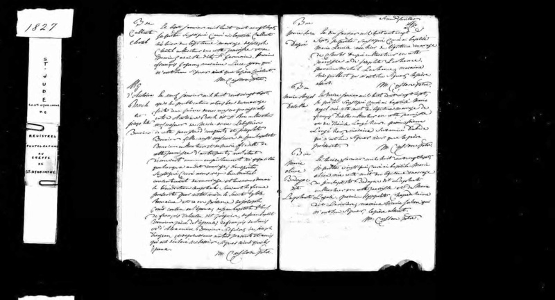 Antoine BUQUE dit ST-ROCH et Marie-Anne LABOSSIÈRE Mariag28